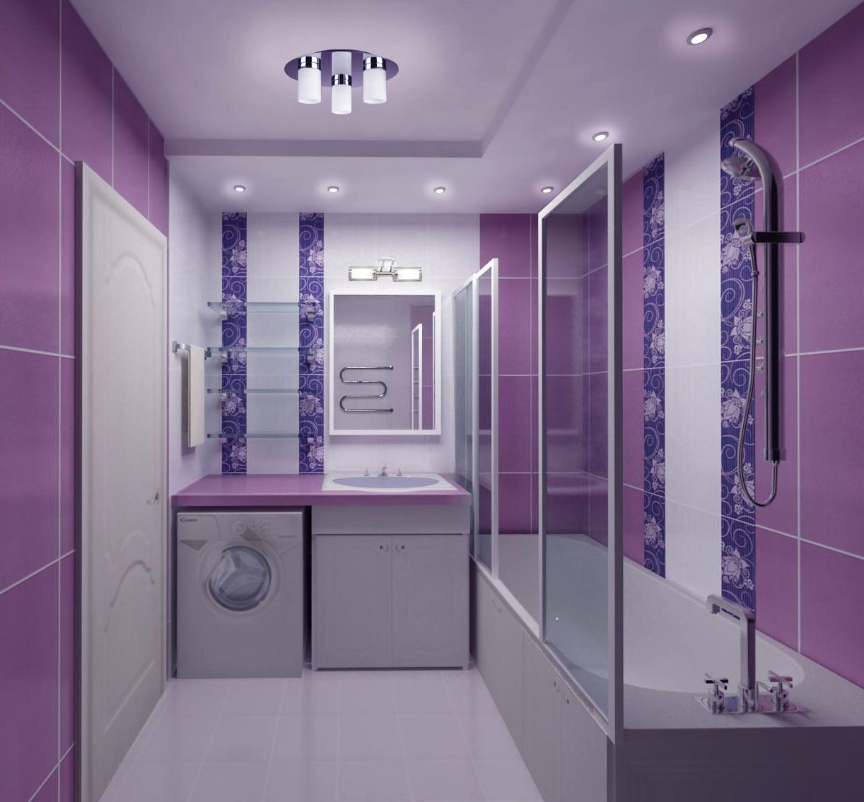Фиолетовая ванная фото