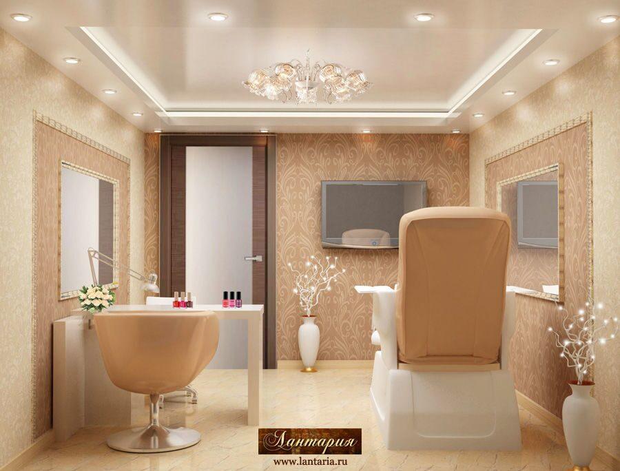 Дизайн салона красоты 250 кв. м | Кабинет ...: lantaria.ru/salon-krasoty-230-kv-m